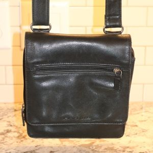 Womens handbag purse FOSSIL leather black